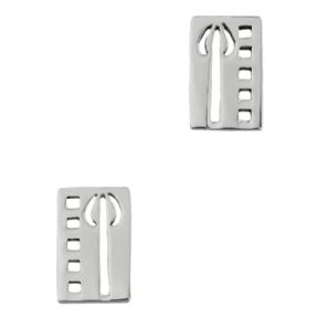Mackintosh Tulip Silver Stud Earrings 0137